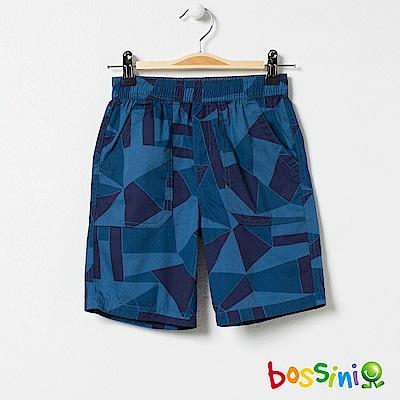 bossini男童-印花輕便短褲06藍