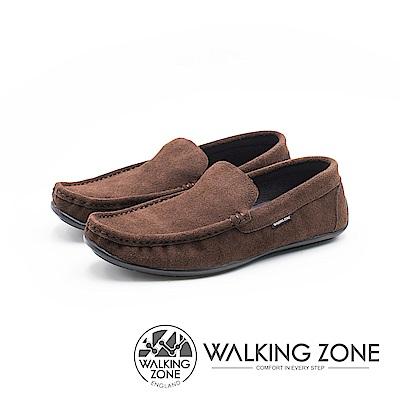 WALKING ZONE 極簡雅痞懶人鞋休閒鞋 男鞋-咖(另有黑)