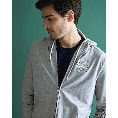 CACO-立體繡花帽外套-情侶款-(兩色)-男【SAR012】
