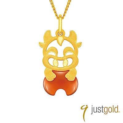 鎮金店 Just Gold 吉祥寶寶十二生肖純金系列 黃金墜子-牛