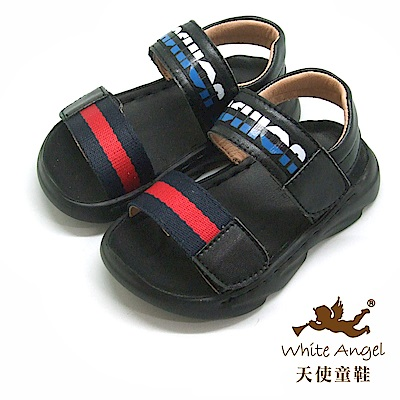 天使童鞋 帥氣防水涼鞋(小童)i936-藍