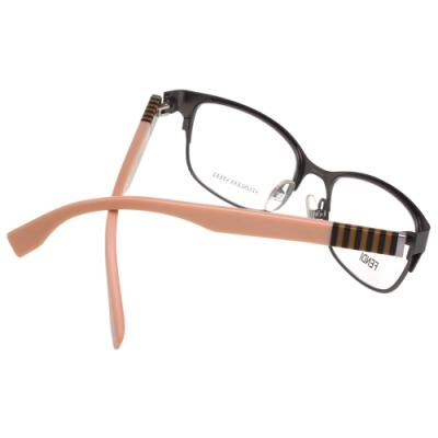 FENDI 經典款 光學眼鏡(槍色)FF0033