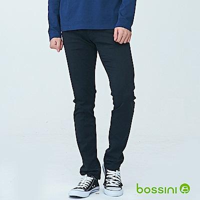 bossini男裝-合身牛仔褲01黑