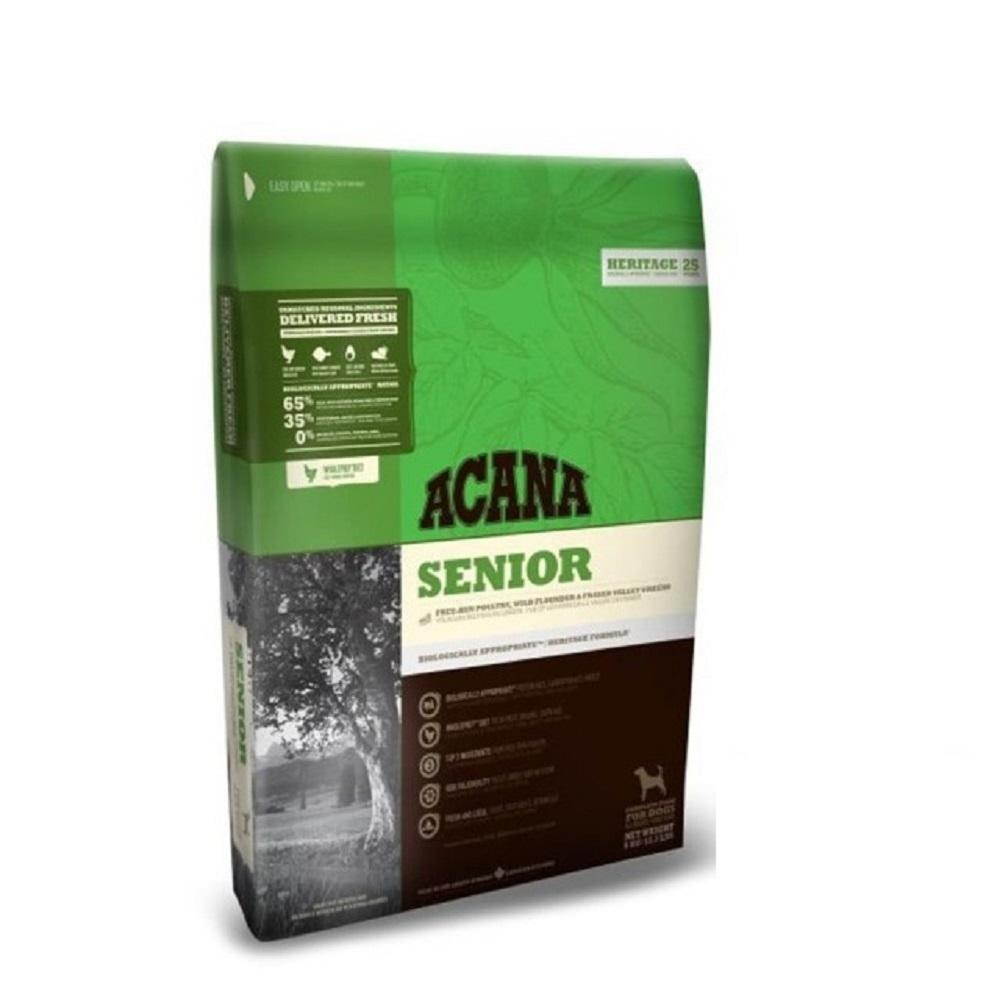 加拿大ACANA愛肯拿-老犬無穀-放養雞肉+新鮮蔬果(抗氧化) 2KG/4.4LB (2包組) 送全家禮卷50元*1張 (購買第二件贈送寵鮮食零食*1包)