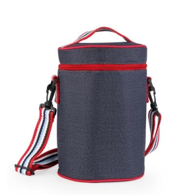 PUSH!餐具圓形飯盒袋保溫袋鋁箔便當袋裝飯包飯盒的保溫袋E143