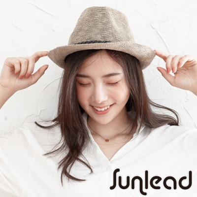 Sunlead 日系經典防曬遮陽帽/紳士帽/中折帽