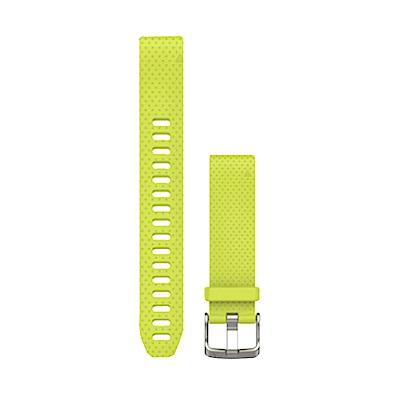 Garmin QUICKFIT  20mm 螢亮黃矽膠錶帶(加長版)