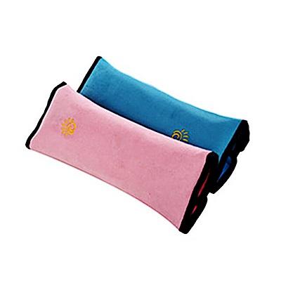 威力鯨車神 汽車安全帶靠枕(粉藍、粉紅 兩入裝-顏色隨機)