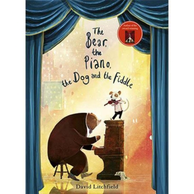 The Bear,The Piano,The Dog And The Fiddle 雨果和小提琴家平裝繪本