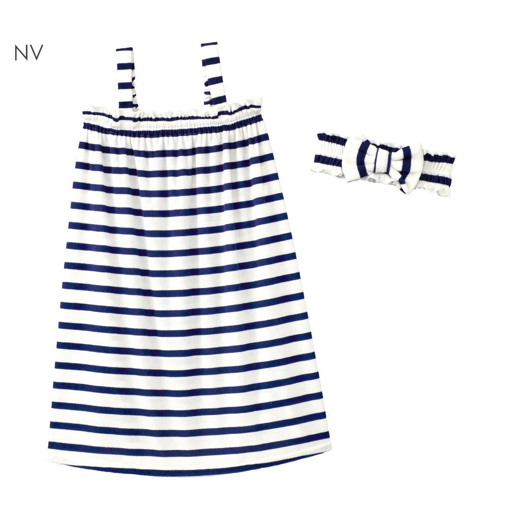 aimerfeel 毛巾布短袖浴袍家居服-海軍藍-822170-NV