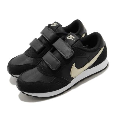 Nike 休閒鞋 MD Valiant PSV 運動 童鞋 基本款 簡約 魔鬼氈 舒適 中童 穿搭 黑 金 CN8559009
