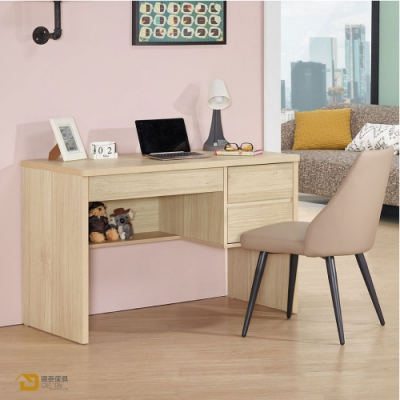 D&T 德泰傢俱 Rita北歐撞色風3.7尺書桌(不含椅) 寬113X深60X高76公分