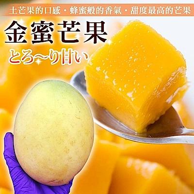 【果之蔬】嚴選金蜜芒果5顆(每顆約250g)