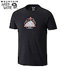 Mountain Hardwear 男款-混棉休閒短袖T恤-黑色