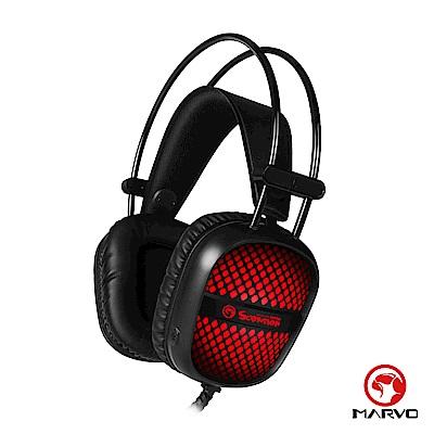 【MARVO魔蠍】 HG8941 漸層背光電競耳罩式耳機