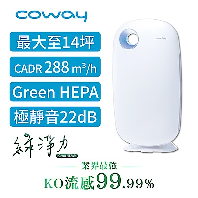 Coway 10-14坪 加護抗敏型空氣清淨機 AP-1009CH 白色 送sunbeam保暖墊