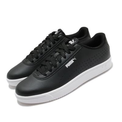 Puma 休閒鞋 Court Pure 運動 男女鞋 基本款 簡約 皮革 情侶穿搭 舒適 黑 白 37476602