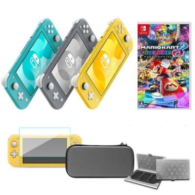 任天堂 Switch Lite主機+主機包+鋼化貼+瑪利歐賽車