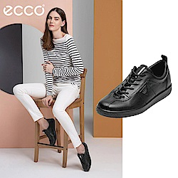 ECCO SOFT 1 極簡舒適休閒鞋 女-黑