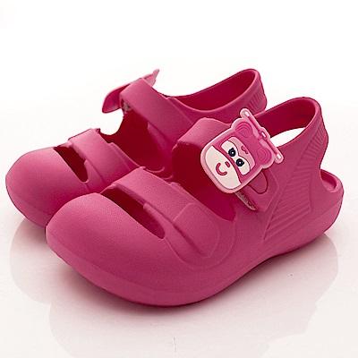SUPER WINGS 超輕量休閒涼鞋款 EI3843桃(中小童段)