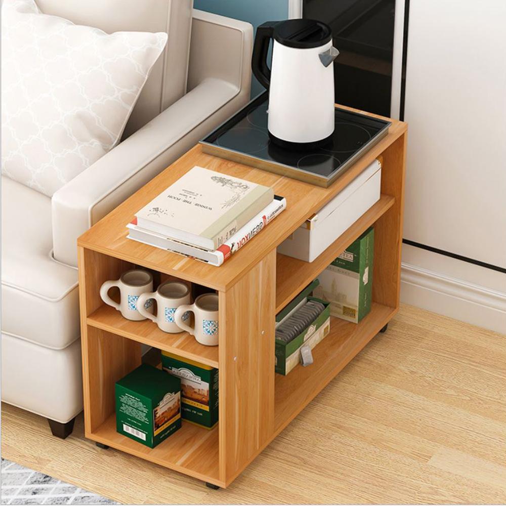 【Incare】雙層DIY-移動式收納沙發邊櫃(小60*60*30公分/3色可選)