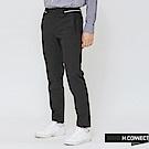 H:CONNECT 韓國品牌 男裝-條紋滾邊直筒長褲-黑
