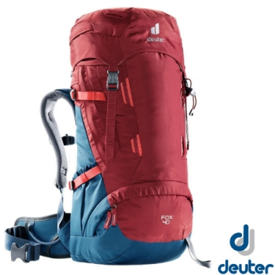 Deuter Fox 40+4L 專業輕量拔熱透氣背包_紅/藍