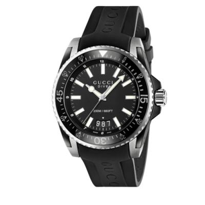 GUCCI Dive 200米潛水紳士橡膠款(YA136204A)x45mm