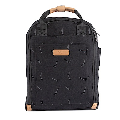 GOLLA 北歐芬蘭時尚極簡後背包- G2225 印花煤礦黑 13吋