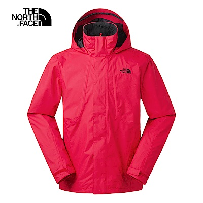 The North Face北面男款紅色防風防水衝鋒衣 3SPI682