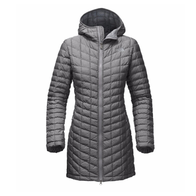The North Face 女 ThermoBall長版外套 灰-NF0A364BDYY