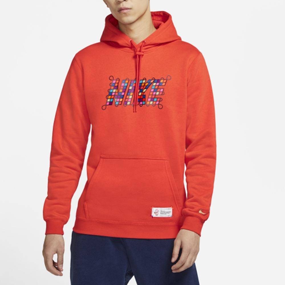 NIKE 上衣 帽T 運動 連帽 長袖上衣 男款 紅 DH1382-606 AS M NSW CNY PO HOODIE