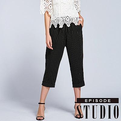 EPISODE Studio - 率性直條設計七分褲(黑)
