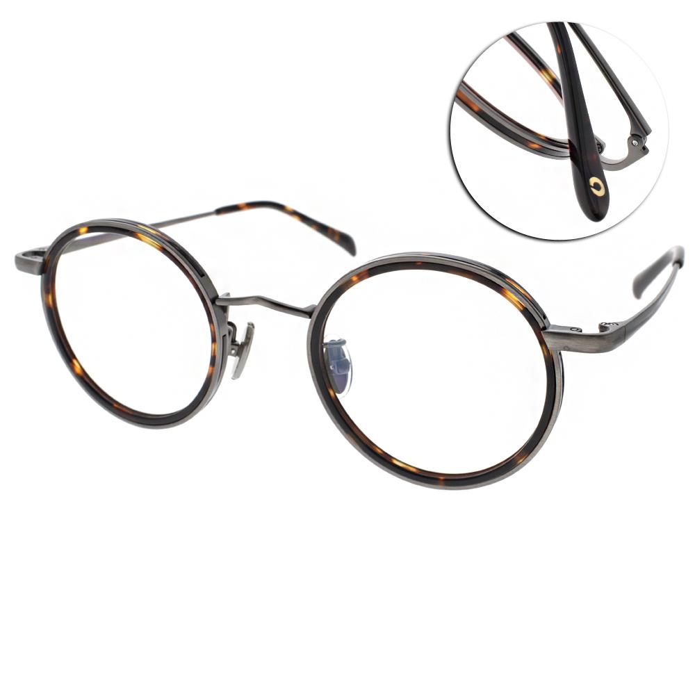 NINE ACCORD眼鏡 韓系圓框/琥珀-槍 #TI ELLY C02