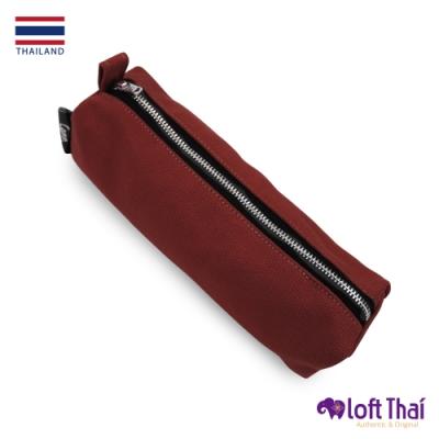 Loft THAI | 泰.筆類小物帆布收納袋 | DarkRed