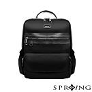 SPRING-未來系列尼龍簡約後背包 A4可-經典黑
