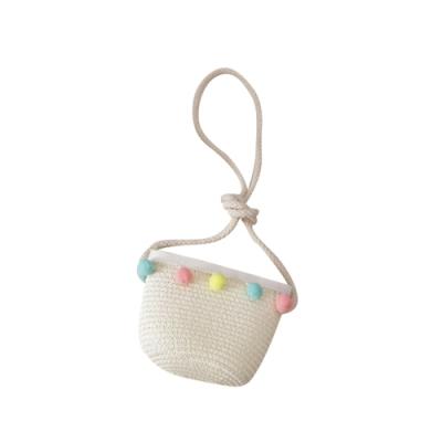 Baby童衣 韓國女童防曬沙灘帽 兒童手工草編包包 漁夫帽 88281