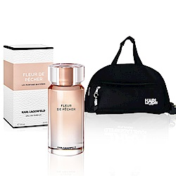 Karl Lagerfeld卡爾桃色時尚香氛2件組(淡香精100ml+時尚拉桿旅行袋)