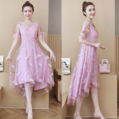 【韓國K.W.】時尚潮流清甜超仙蕾絲洋裝