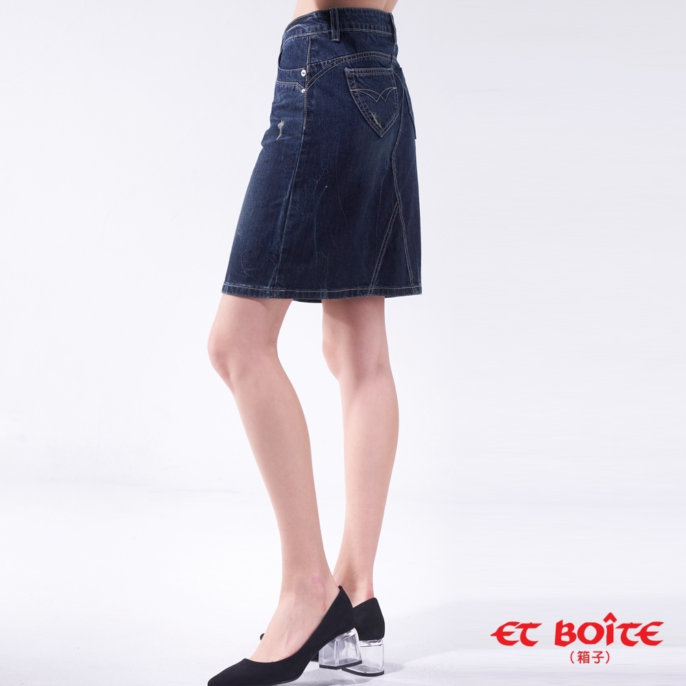 ET BOîTE 箱子 BLUE WAY – 經典調細修身窄裙