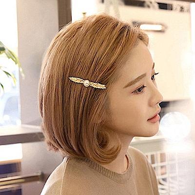 Hera 赫拉 歐美時尚珍珠樹葉髮夾-2色