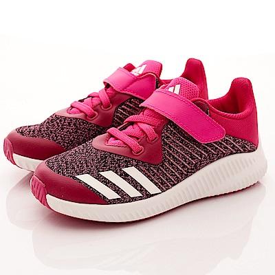 adidas童鞋 針織金線慢跑款 NI496桃(中小童段)