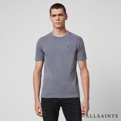 ALLSAINTS TONIC OSSAGE 漸層單色純棉短袖T恤-嶺藍
