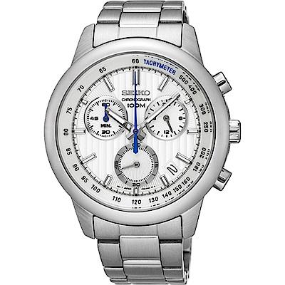 SEIKO CS線條時尚計時腕錶 /8T68-00A0S/SSB203P1