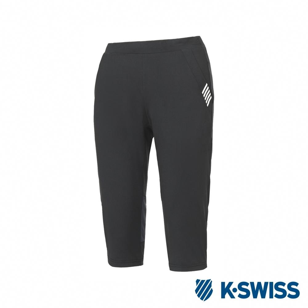 K-SWISS PF Capri pants韓版運動七分褲-女-黑