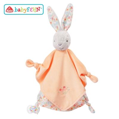 【任選】德國《baby FEHN 芬恩》天鵝湖小兔安撫奶嘴巾