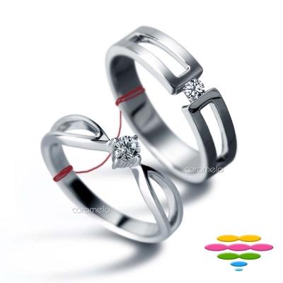 彩糖鑽工坊 鑽石對戒 深情系列 (9分對戒)