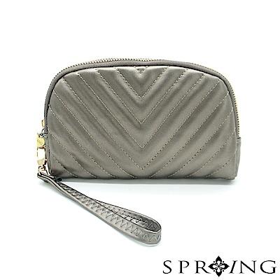SPRING-女神赫本手提包-古銅金