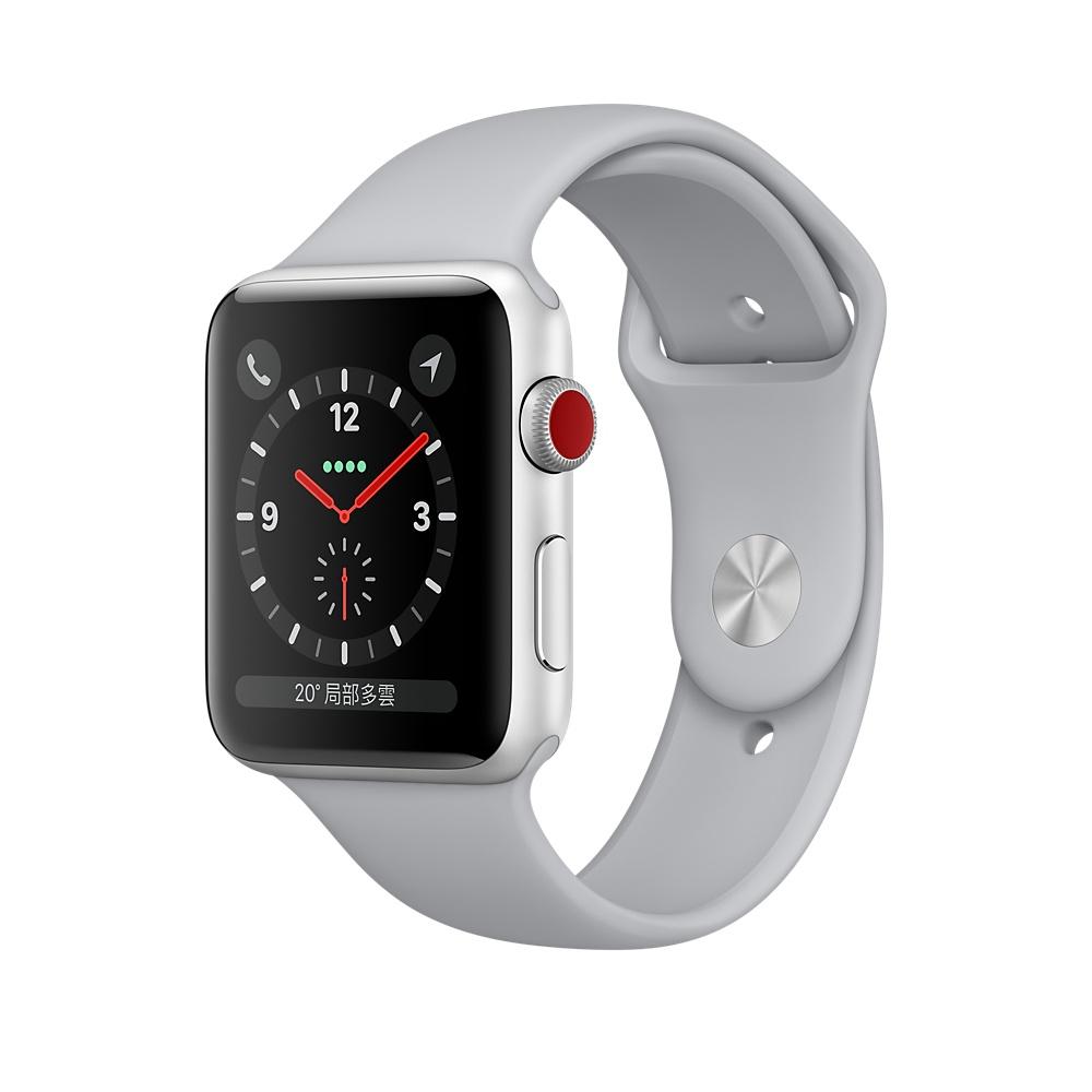 【福利機】Apple Watch 3 42mm GPS + 行動網路 (銀色鋁搭薄霧灰) @ Y!購物