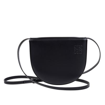 【時時樂】LOEWE 新款Heel Mini馬蹄型肩背/斜背包 (黑色)